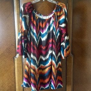 Voll Boutique Brand Dress in Chevron Print